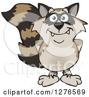 Clipart Of A Happy Raccoon Royalty Free Vector Illustration by Dennis Holmes Designs