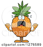 Clipart Of A Scared Screaming Pineapple Character Royalty Free Vector Illustration by Cory Thoman