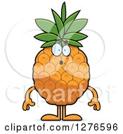 Clipart Of A Surprised Gasping Pineapple Character Royalty Free Vector Illustration