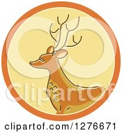 Clipart Of A Buck Deer Hunting Icon Royalty Free Vector Illustration by BNP Design Studio