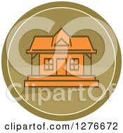 Clipart Of A Hunting Cabin Icon Royalty Free Vector Illustration
