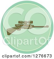 Clipart Of A Hunting Rifle Icon Royalty Free Vector Illustration