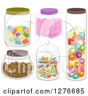 Clipart Of Jars With Candies Royalty Free Vector Illustration