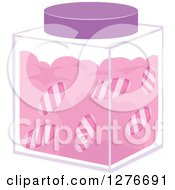 Clipart Of A Jar Of Peppermint Candies Royalty Free Vector Illustration