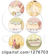 Clipart Of Spa And Alternative Medicine Icons Royalty Free Vector Illustration