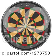 Clipart Of A Dart Board Royalty Free Vector Illustration by BNP Design Studio