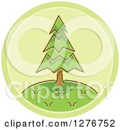 Clipart Of A Green Tree Icon Royalty Free Vector Illustration