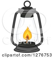 Clipart Of A Lit Lantern Royalty Free Vector Illustration by BNP Design Studio
