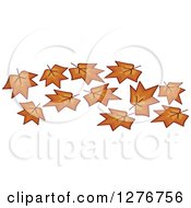 Clipart Of Autumn Maple Leaves Royalty Free Vector Illustration