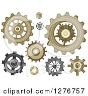 Clipart Of Gear Cog Designs Royalty Free Vector Illustration