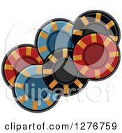 Clipart Of Colorful Poker Chips Royalty Free Vector Illustration
