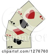 Clipart Of Playing Cards Royalty Free Vector Illustration by BNP Design Studio