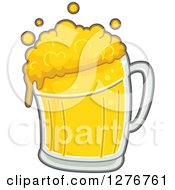 Clipart Of A Bubbly Beer Royalty Free Vector Illustration by BNP Design Studio