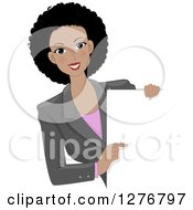 Beautiful Black Businesswoman Pointing To A Blank Board