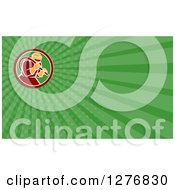 Clipart Of A Sandblaster And Green Rays Business Card Design Royalty Free Illustration by patrimonio