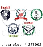 Clipart Of Baseball And Text Sports Designs Royalty Free Vector Illustration