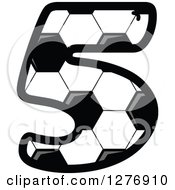 Grayscale Soccer Ball Number Five
