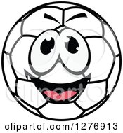 Smiling Happy Soccer Ball Character