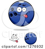 Poster, Art Print Of Goofy Face And Blue Bowling Balls