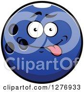 Poster, Art Print Of Goofy Blue Bowling Ball Character