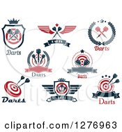 Clipart Of Throwing Darts And Text Sports Designs Royalty Free Vector Illustration