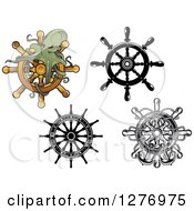 Ship Helms And An Octopus