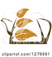 Poster, Art Print Of Leafy Brown Tea Pot 7