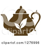 Poster, Art Print Of Leafy Brown Tea Pot 10