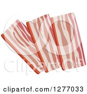 Clipart Of Strips Of Bacon Royalty Free Vector Illustration