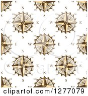 Clipart Of A Seamless Patterned Background Of Compasses Royalty Free Vector Illustration