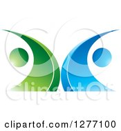 Clipart Of A Blue And Green Abstract Ecology Logo 5 Royalty Free Vector Illustration by Lal Perera