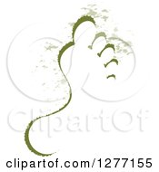 Clipart Of A Green Footprint Design Royalty Free Vector Illustration by Lal Perera