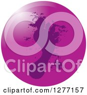 Clipart Of A Round Purple Footprint Icon Royalty Free Vector Illustration by Lal Perera