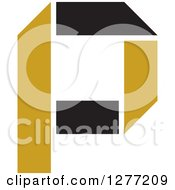 Clipart Of A Letter P Royalty Free Vector Illustration