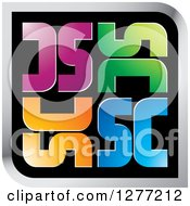 Clipart Of A Colorful Square SC Icon Royalty Free Vector Illustration