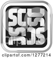 Clipart Of A Silver And Black Square SC Icon Royalty Free Vector Illustration
