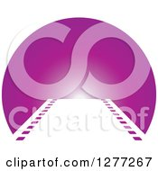 Clipart Of A Film Strip Leading To A Purple Circle Royalty Free Vector Illustration by Lal Perera