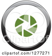 Clipart Of A Green Shutter In A Gradient Circle Royalty Free Vector Illustration by Lal Perera