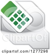 Green White And Silver Wrench And Cell Phone Settings Icon