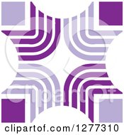 Clipart Of A Purple Abstract Design Royalty Free Vector Illustration