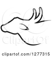 Clipart Of A Black Buffalo Silhouette Design Royalty Free Vector Illustration by Lal Perera
