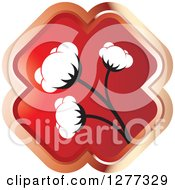Clipart Of A Red Cross And Cotton Plant Royalty Free Vector Illustration