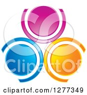 Clipart Of Colorful Circles Or People Royalty Free Vector Illustration by Lal Perera