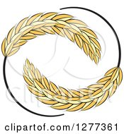 Clipart Of A Circle Of Wheat Stalks Royalty Free Vector Illustration by Lal Perera