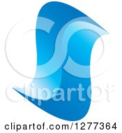 Clipart Of A Gradient Abstract Blue Swoosh Royalty Free Vector Illustration by Lal Perera