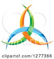 Clipart Of A Blue Green And Orange Abstract Design Royalty Free Vector Illustration by Lal Perera