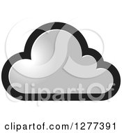 Clipart Of A Black And Gray Cloud Royalty Free Vector Illustration