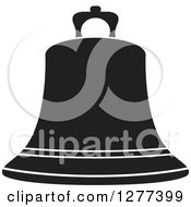 Clipart Of A Black And White Bell Royalty Free Vector Illustration by Lal Perera