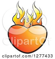 Clipart Of A Flaming Gradient Heart Royalty Free Vector Illustration by Lal Perera