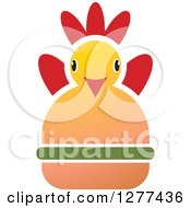 Clipart Of A Red Yellow And Green Chicken Burger 3 Royalty Free Vector Illustration by Lal Perera